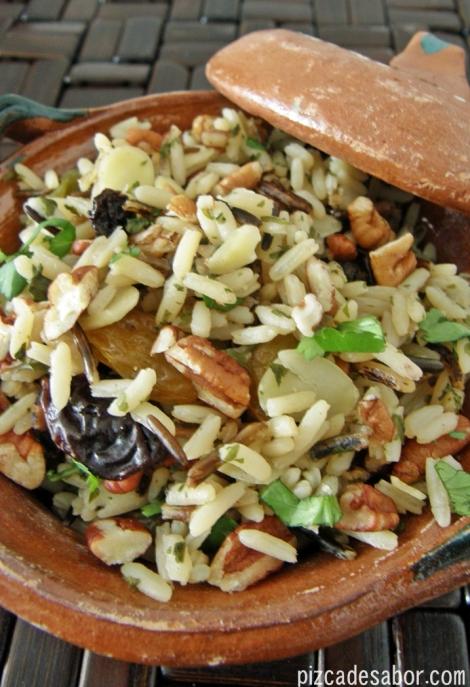 Arroz salvaje con frutos secos – Pizca de Sabor
