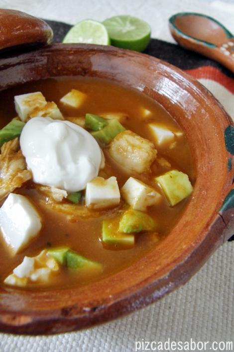 Sopa de tortilla con pavo (recalentado) – Pizca de Sabor
